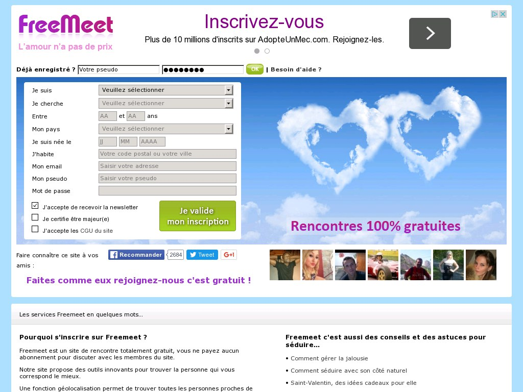 freemeet site de rencontre l