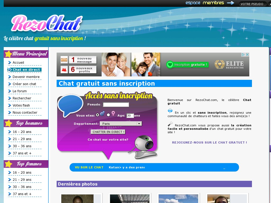 Site de rencontre inscription et chat gratuit