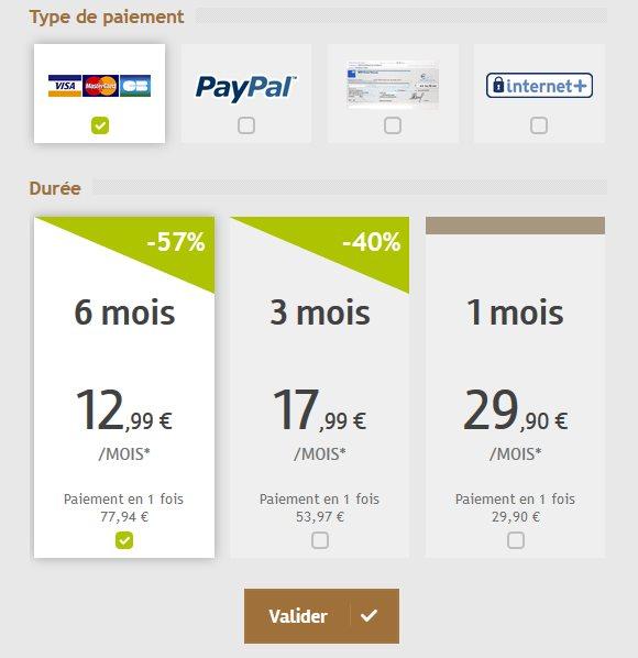 Celib Paris - Prix et Tarifs