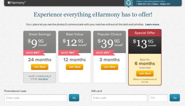 eHarmony - Abonnement Premium