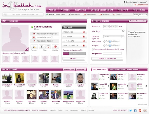 Site de rencontre inchallah login