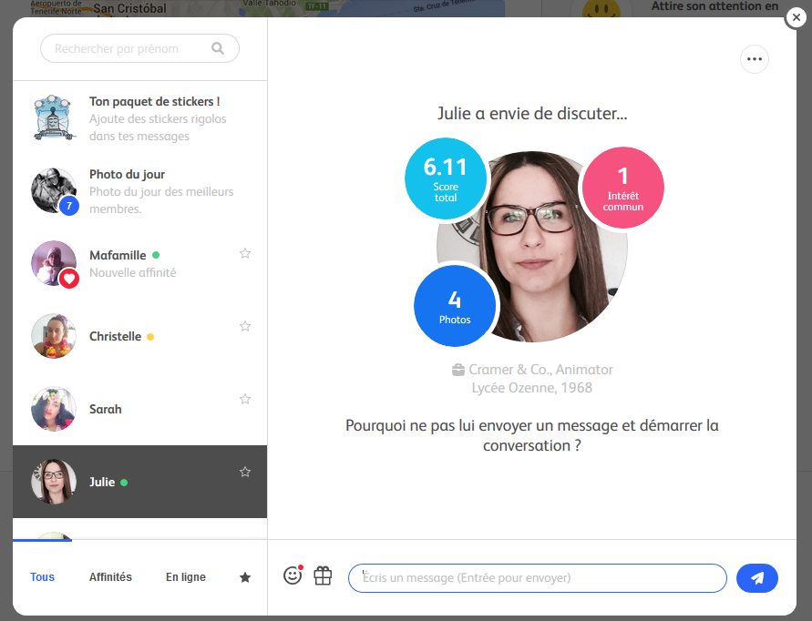 Tchat et Discussion Badoo