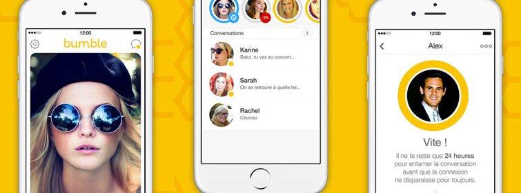 Bumble : une application où les femmes font le premier pas