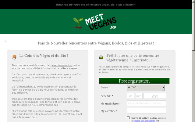 meet avis sur le site de rencontre vegan. Black Bedroom Furniture Sets. Home Design Ideas